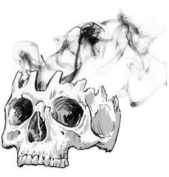Smokey skull vector