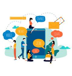 social media networking chatting texting vector image
