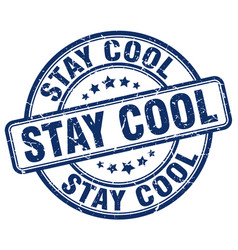Stay cool blue grunge stamp vector