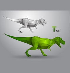 T-rex from triangles vector