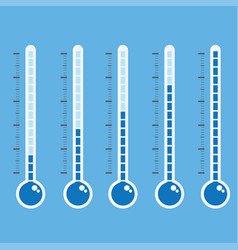 thermometer icon on blue background vector image