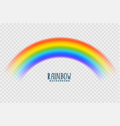 transparent rainbow colorful design background vector image