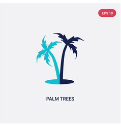 two color palm trees icon from holidays concept vector image