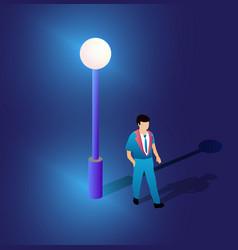 ultraviolet neon street lamp isometric 3d vector image