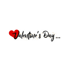 valentines day on a white background vector image