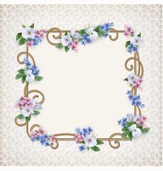 vintage decorative background vector image