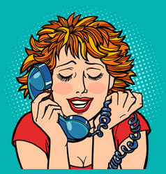woman embarrassed embarrassment shame telephone vector image