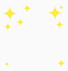 yellow star glitter flat asterisks pattern vector image