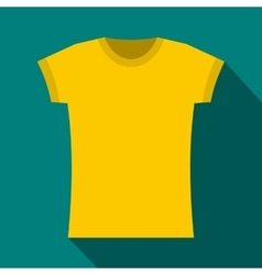 Yellow t shirt icon flat style vector image