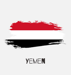 Yemen watercolor national country flag icon vector