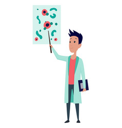 Young scientists characters in laboratory doctor vector