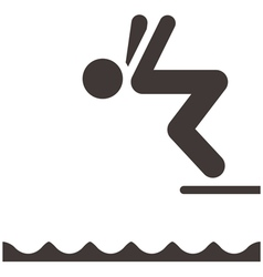 Diving icon vector