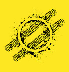 grunge circle and tire track vector image