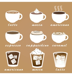 Morning coffee set EPS10 vector image