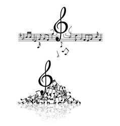 Musical background with spoiled notes vector image vector image