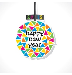 new year 2015 greeting design vector image