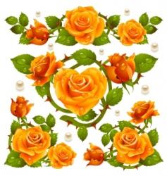 rose design elements vector image