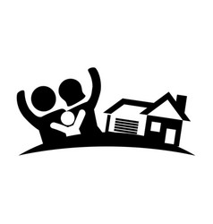 family home real estate image vector image