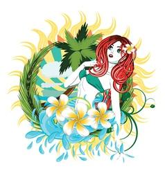 Island girl2 vector image