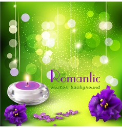 romantic background with violets vector image vector image