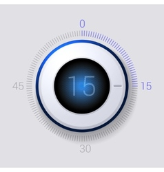 Electronic Dial Timer 15 Seconds vector image vector image
