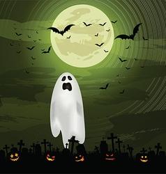 halloween ghost background 0609 vector image