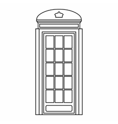 Phone booth icon outline style vector image vector image