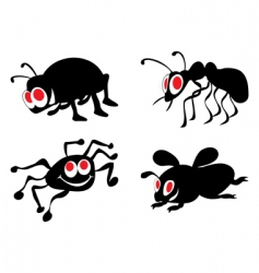 ridiculous insects vector image vector image