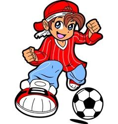 Anime Manga Soccer Player vector image