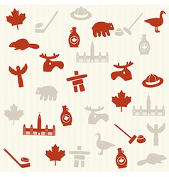 Canadian seamless pattern vector image vector image