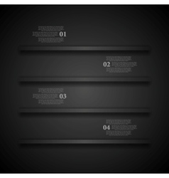 Dark shelves infographics design vector