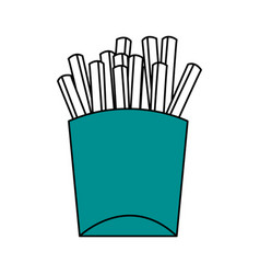 french fries design vector image vector image