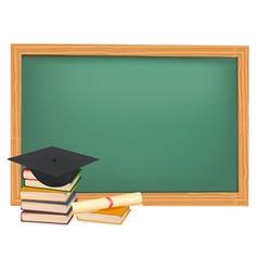 graduation cap and diploma vector image