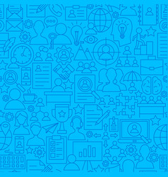 Human resources line seamless pattern vector