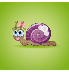 Isolated funny female snail vector image vector image