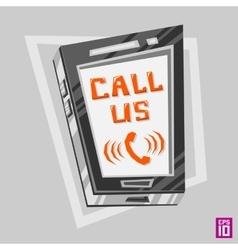 Phone Call us vector image