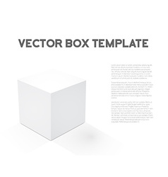 Realistic 3D Cube Device Box Icon vector image vector image