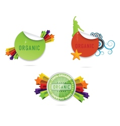shiny creative labels and emblems set vector image vector image