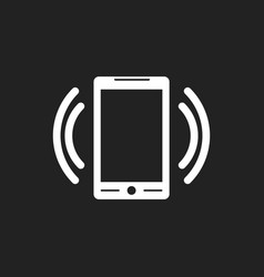 smart phone with email symbol on the screen in vector image vector image
