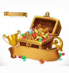 treasure chest 3d icon vector image vector image
