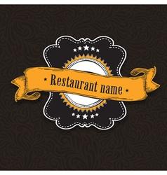 vintage menu card vector image vector image