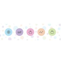 5 economy icons vector