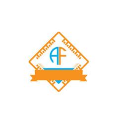 A-f-letter-logo-design vector