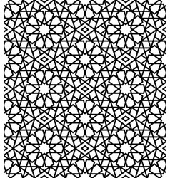 arabic black and white seamless pattern vector image