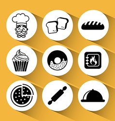 bakery icons vector image