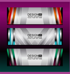 banner backgrounds design vector image
