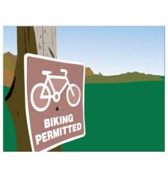 biking permitted vector image