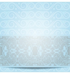 blue invitation vector image