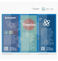Brochure mock up design template for business vector