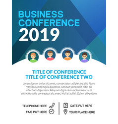 Business conference simple template invitation vector